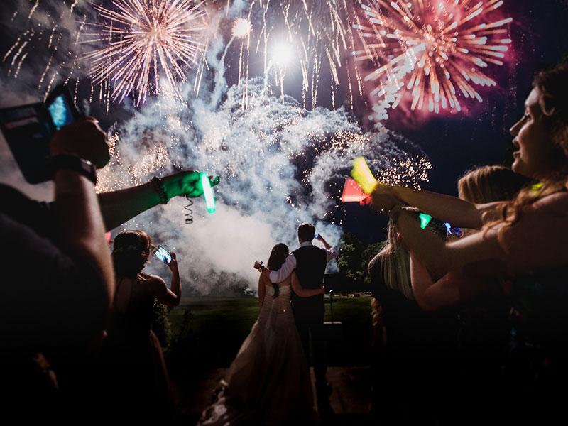 Professional Firework Displays Weddings Corporate